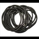 Ibero Hiuslenkki musta ohut 15kpl