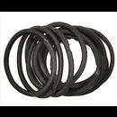 Ibero Hiuslenkki pyöreä musta 10kpl