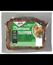 Atria Bravuuri n1,0kg Pulled Pork, maustettu, paistopussipakkauksessa