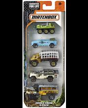 Auto Matchbox 5 autoa/pakkaus, lajitelma