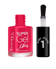Rimmel 12ml Super Gel Nail Polish 041 Darling Dahlia by Kate kynsilakka