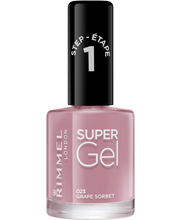 Rimmel 12ml Super Gel Nail Polish 023 Grape Sorbet kynsilakka