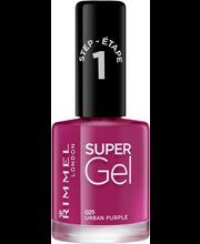 Rimmel 12ml Super Gel Nail Polish 025 Urban Purple kynsilakka