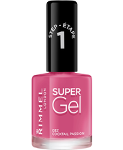 Rimmel 12ml Super Gel Nail Polish 032 Cocktail Passion kynsilakka