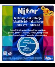 Nitor 3014 tekstiiliväri petrooli, 75ml nestemäinen tekstiiliväri + 100g kiinnitysaine