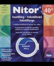 Nitor 3006 Sinikaunokki tekstiiliväri, 75ml nestemäinen tekstiiliväri + 100g kiinnitysaine