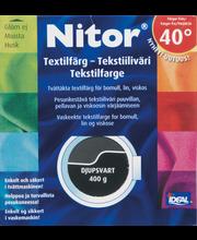 Nitor 3013 Musta tekstiiliväri, 75ml nestemäinen tekstiiliväri + 100g kiinnitysaine