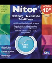 Nitor 3015 Turkoosi tekstiiliväri, 75ml nestemäinen tekstiiliväri + 100g kiinnitysaine