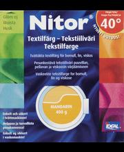 Nitor 3038 Mandariini tekstiiliväri, 75ml nestemäinen tekstiiliväri + 100g kiinnitysaine