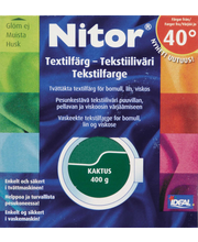 Nitor 3040 Kaktus tekstiiliväri, 75ml nestemäinen tekstiiliväri + 100g kiinnitysaine