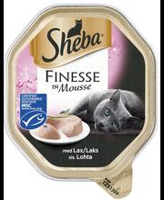 Sheba Finesse Mousse 85g Lohi, täysrehua aikuisille kissoille