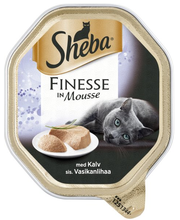 Sheba Finesse Mousse 85g Vasikkaa, täysrehua aikuisille kissoille
