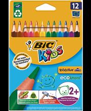 Bic Kids kolmiovärikynät 12 kpl