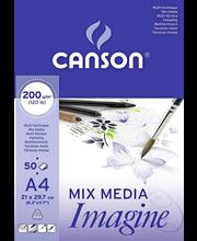 Canson akvarelli- ja monitekniikkalehtiö A4/50 200G