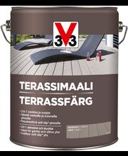 V33 Terassimaali puulle 5l harmaa