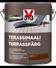 V33 Terassimaali puulle 5l ruskea