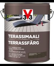 V33 Terassimaali puulle 5l tummanruskea