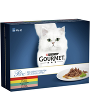 Gourmet 8x85g Perle Mini Filets kastikkeessa lajitelma 4 varianttia kissanruoka