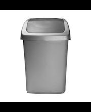 Curver Flip Bin -roska-astia heilurikannella 10L hopea/tummanharmaa