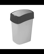 Curver Flip Bin -roska-astia heilurukannella 25L hopea/tummanharmaa