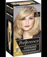 L'Oréal Paris Préférence Infinia 8 California Light Blonde Luonnonvaalea kestoväri
