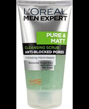Loreal Paris Men Expert 150 ml Pure & Matt -puhdistava kuorintageeli rasvoittuvalle iholle