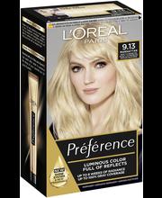 L'Oréal Paris Préférence Infinia 9.13 Baikal Light Golden Ash Blonde Kirkkaan vaalea beige kestoväri