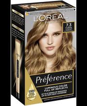 L'Oréal Paris Préférence Infinia 7.3 Florida Honey Blonde Keskivaalea kulta kestoväri