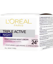 L'Oréal Paris 50ml Triple Active kosteuttava yövoide
