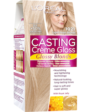 L'Oréal Casting Crème Gloss Glossy Blonds Hoitava Kevytväri 1021 Light Pearl Blonde Kirkas Helmenvaalea