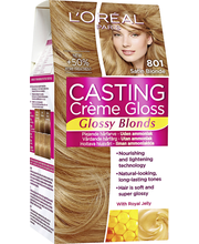 L'Oréal Casting Crème Gloss Glossy Blonds Hoitava Kevytväri 801 Satin Blonde Satiininen Luonnonvaalea