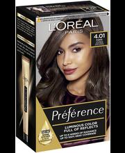 L'Oréal Paris Préférence Infinia 4.01 Paris Deep Brown Syvä ruskea kestoväri