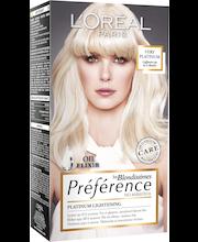 L´Oréal Paris Préférence Blondissimes Very Platinum Vaalennus