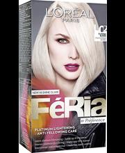 L'Oréal Paris Féria L02 Cold Platinum Blonde Viileä platinanvaalea kestoväri