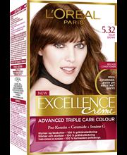 L'Oréal Paris Excellence Creme 5.32 Solar Brown Ruskea helmiäiskulta kestoväri