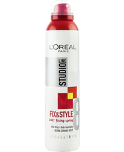 L'Oréal Paris Studio Line 250ml Fix&Style Fixing Spray Ultra Strong Ultravoimakas hiuskiinne, 8/10