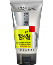 L'Oréal Paris Studio Line 150ml Mineral&Control Invisi CleanGel Ultravoimakas muotoilugeeli, 8/10