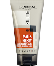 L'Oréal Paris Studio Line 150ml Matt & Messy Paste Ultra-voimakas muotoilutahna, 8/10