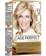 L'Oréal Paris Age Perfect by Excellence 9.31 Light Golden Blonde Vaalea kultatuhka kestoväri