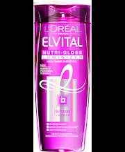 L'Oréal Paris Elvital 250ml Nutri-gloss Luminizer shampoo normaaleille ja kiillottomille hiuksille