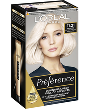 L'Oréal Paris Préférence Blondissimes 11.21 Ultra Light erittäin kirkas viileä kristallinvaalea