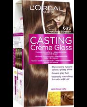 L'Oréal Paris Casting Crème Gloss 635 Chocolate Bonbon Tummanvaalea kultamahonki kevytväri