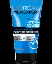 L'Oréal Paris Men Expert 150ml Hydra Power raikastava puhdistusgeeli kasvoille