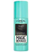 L'Oréal Paris Magic Retouch 75ml Black Suihkutettava Tyvisävyte