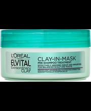 L'Oréal Paris Elvital 150ml Extraordinary Clay Clay-in-mask hiusnaamio rasvoittuvalle hiuspohjalle