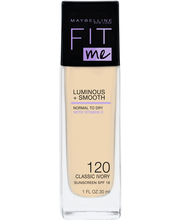 Maybelline Fit Me Luminous & Smooth 120 Classic Ivory -meikkivoide