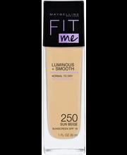 Maybelline Fit Me Luminous & Smooth  250 Sun Beige -meikkivoide