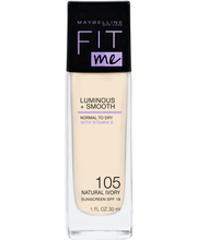 Maybelline Fit Me Luminous & Smooth 105 Natural Ivory -meikkivoide