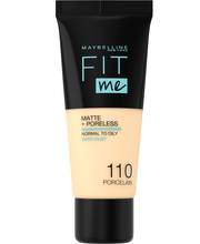 Maybelline Fit Me Matte & Poreless 110 Porcelain -meikkivoide