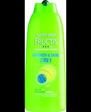Garnier Fructis 400ml Strength&Shine Shampoo normaaleille hiuksille